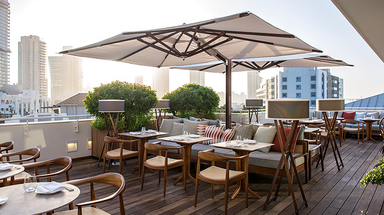 the norman tel aviv outdoor dining