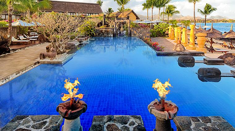 the oberoi beach resort mauritius lagoon pool