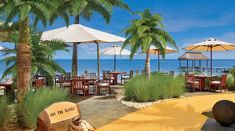 the oberoi beach resort mauritius on the rocks