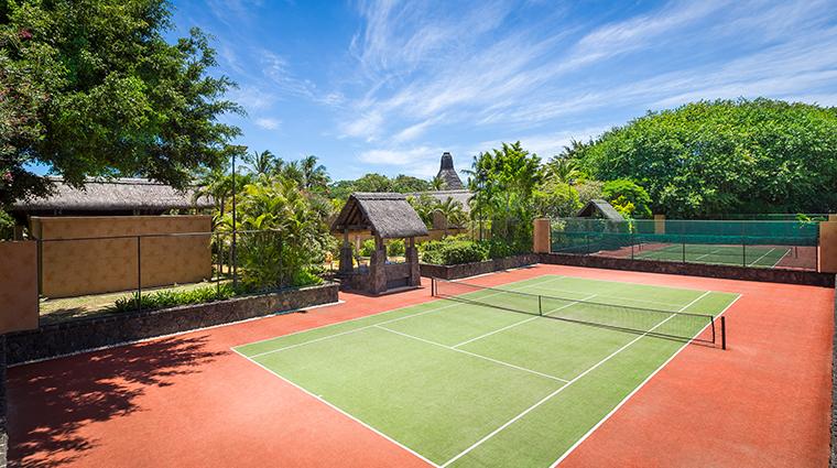 the oberoi beach resort mauritius tennis court