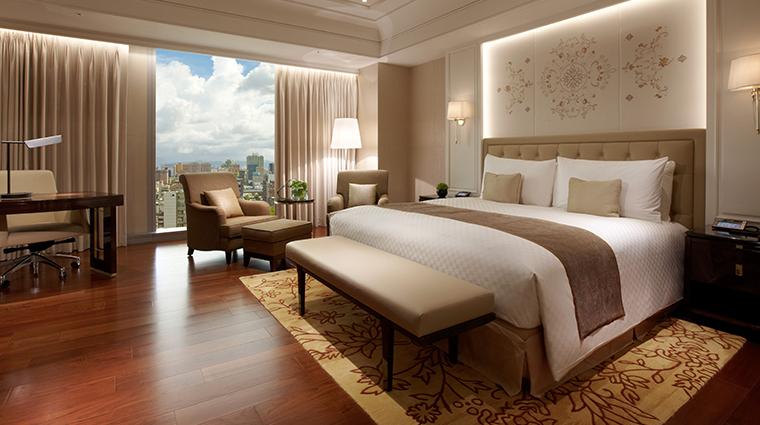 the okura prestige taipei bedroom view