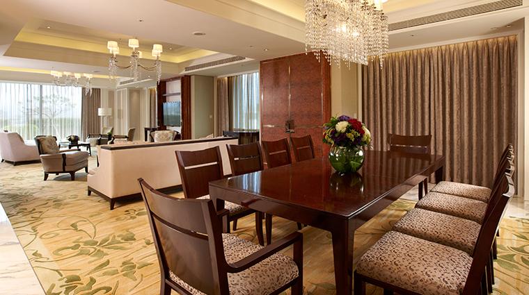 the okura prestige taipei suite dining room