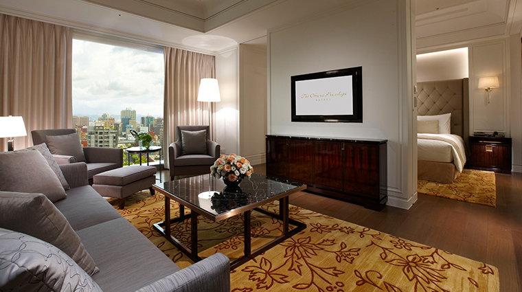 the okura prestige taipei suite living room