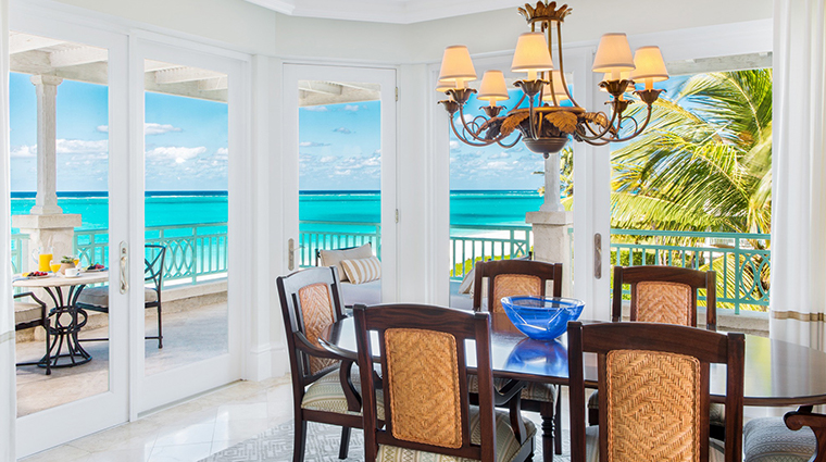 the palms turks and caicos dining room ocean front