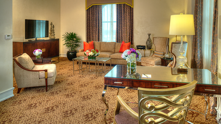the peabody memphis presidential suite living room