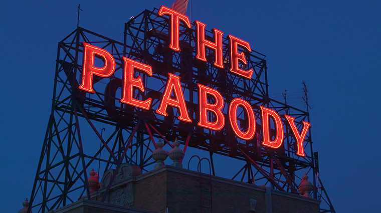 the peabody memphis sign