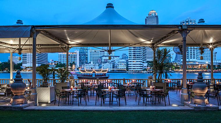 the peninsula bangkok river cafe terrace