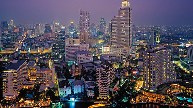 the peninsula bangkok skyline