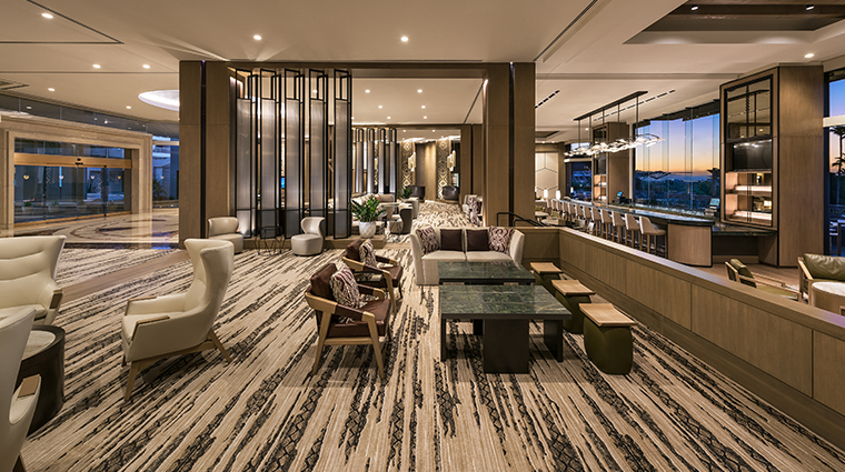 the phoenician a luxury collection resort lobby sitting area