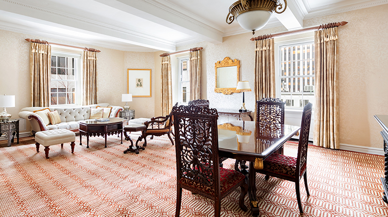 the pierre a taj hotel new york rajput suite living and dining