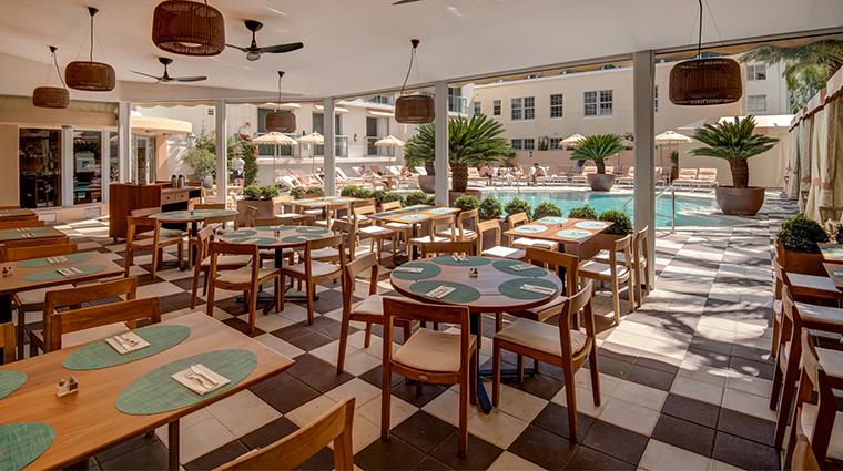 the plymouth miami beach patio dining