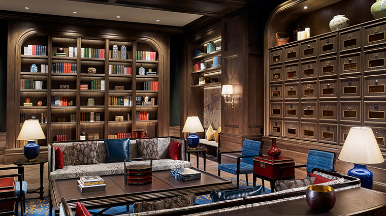 the portman ritz carlton shanghai bar and lounge library