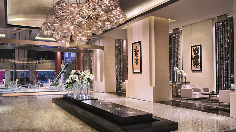 the portman ritz carlton shanghai lobby