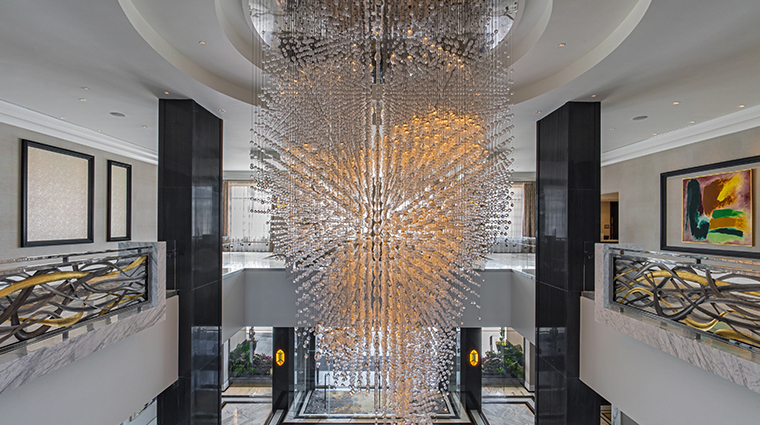 the post oak lobby chandelier