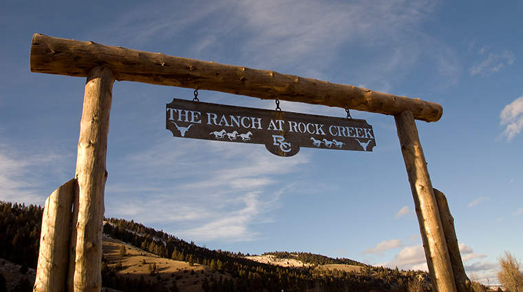 the ranch at rock creek sign