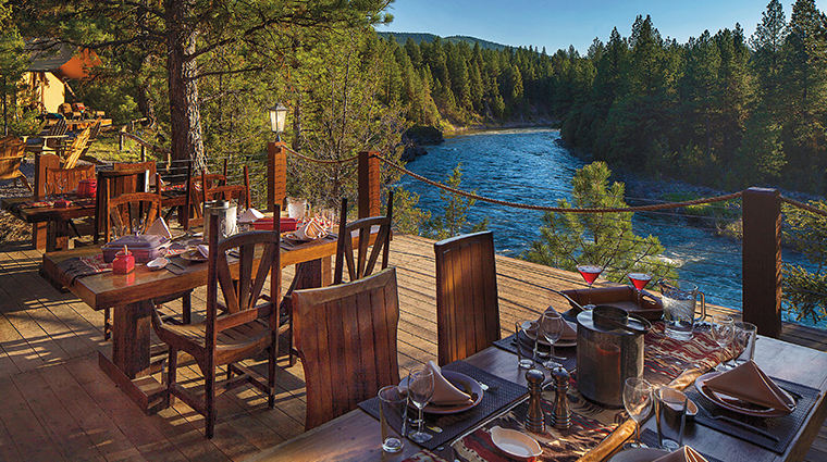 the resort at paws up cliffside camp dining