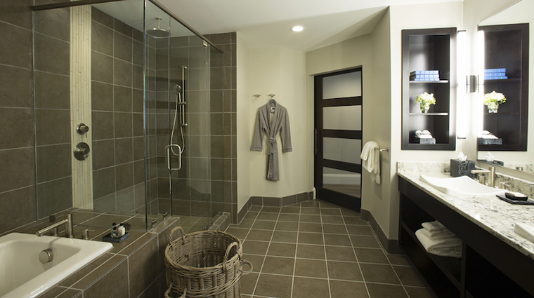 the restoration guest suite bathroom