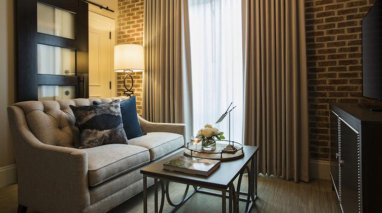 the restoration guest suite living room