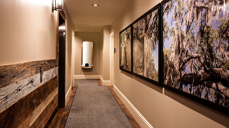 the restoration suite hallway