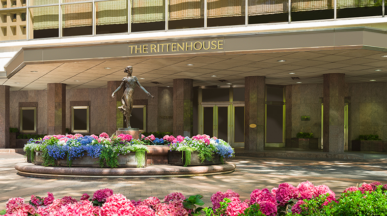 the rittenhouse hotel exterior front entrance