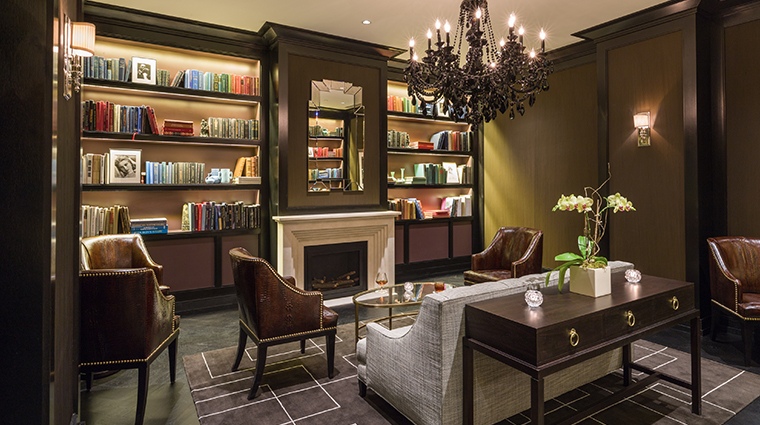 the rittenhouse hotel library bar room