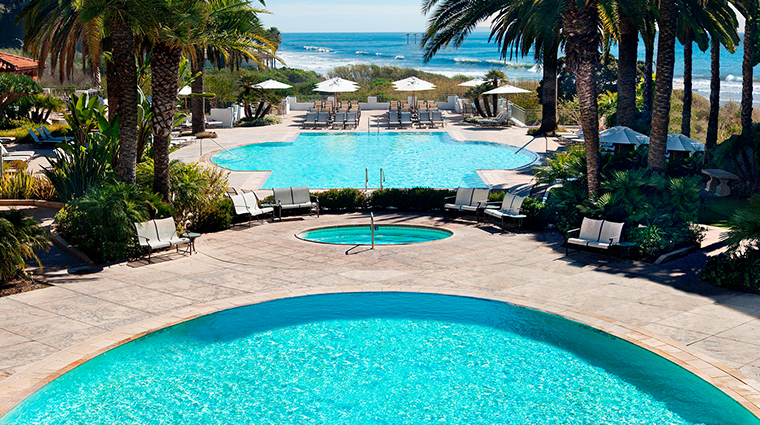 the ritz carlton bacara santa barbara pool shot
