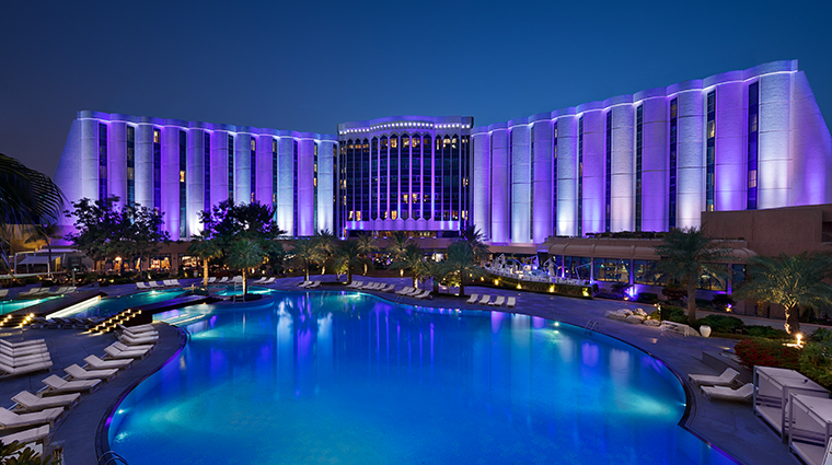 the ritz carlton bahrain exterior night
