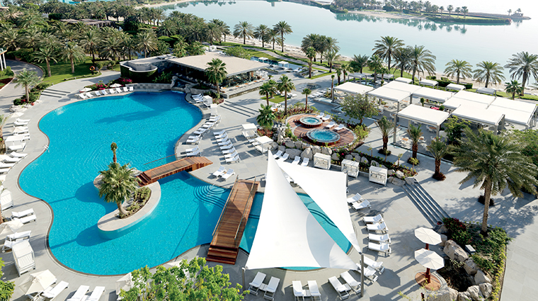 the ritz carlton bahrain pool aerial