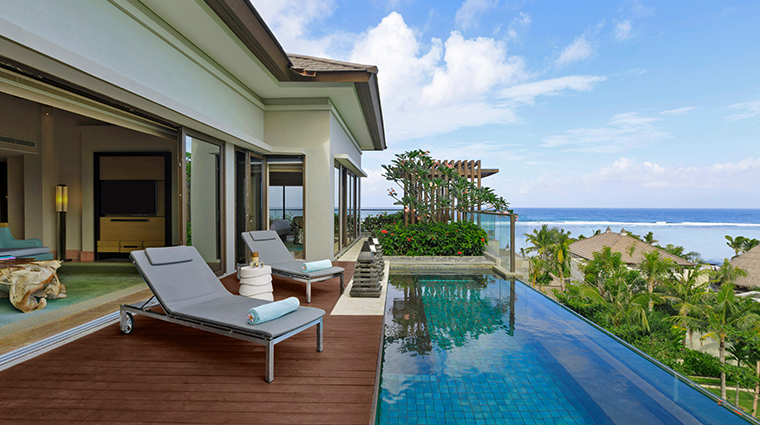 the ritz carlton bali villa pool
