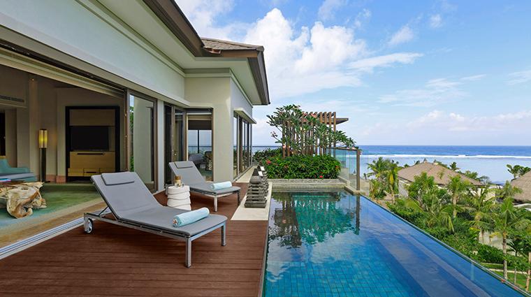the ritz carlton bali villa pool