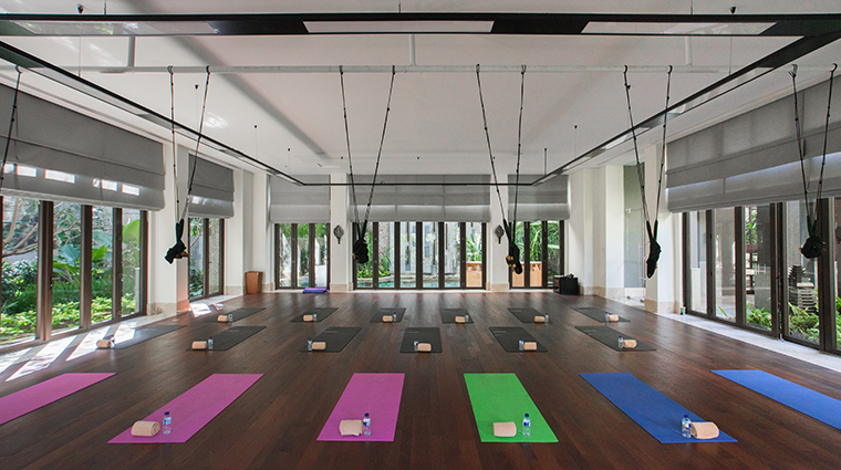 the ritz carlton bali yoga room