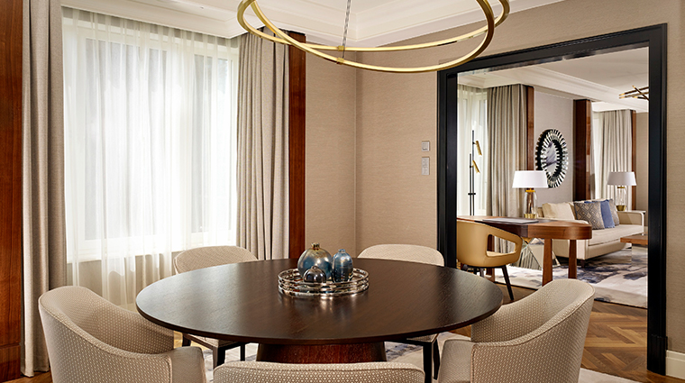 the ritz carlton berlin carlton club suite dining room