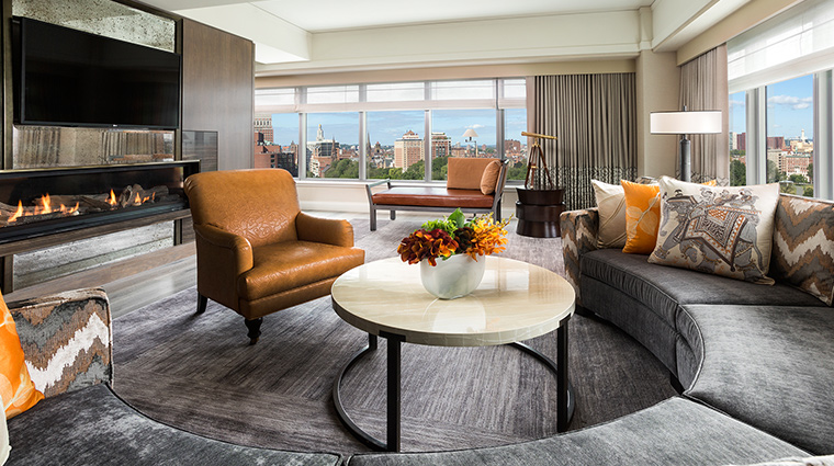 The Ritz Carlton Boston presidential suite living room