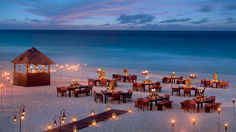 the ritz carlton cancun beach event