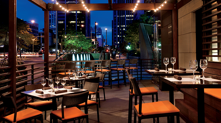 the ritz carlton denver dinner night terrace