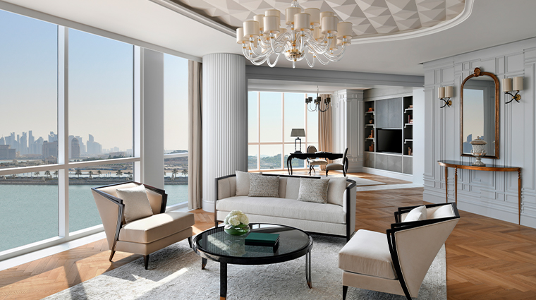 ritz carlton doha the ivory suite living room
