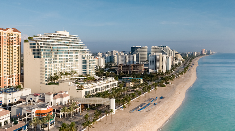 the ritz carlton fort lauderdale aerial north