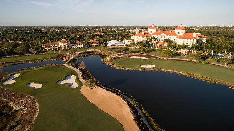 the ritz carlton golf resort naples aerial