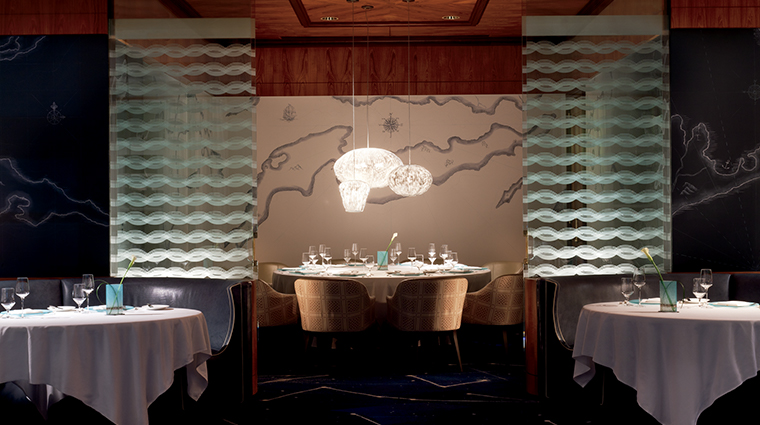 the ritz carlton grand cayman Blue dining room