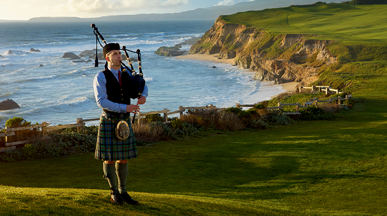 the ritz carlton half moon bay bagpiper