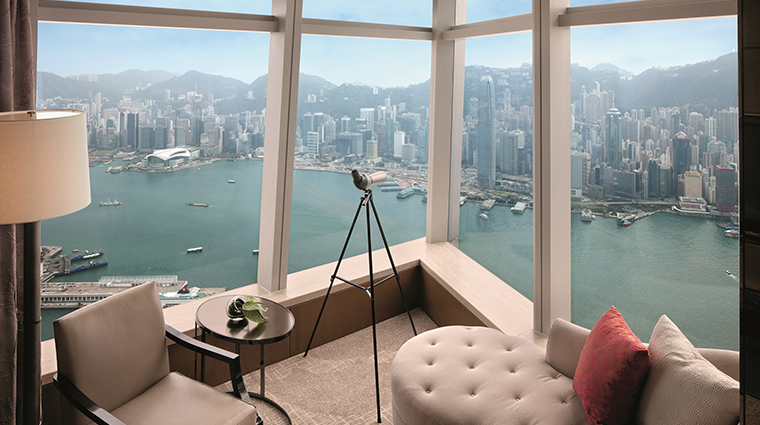 the ritz carlton hong kong deluxe victoria harbour suite view