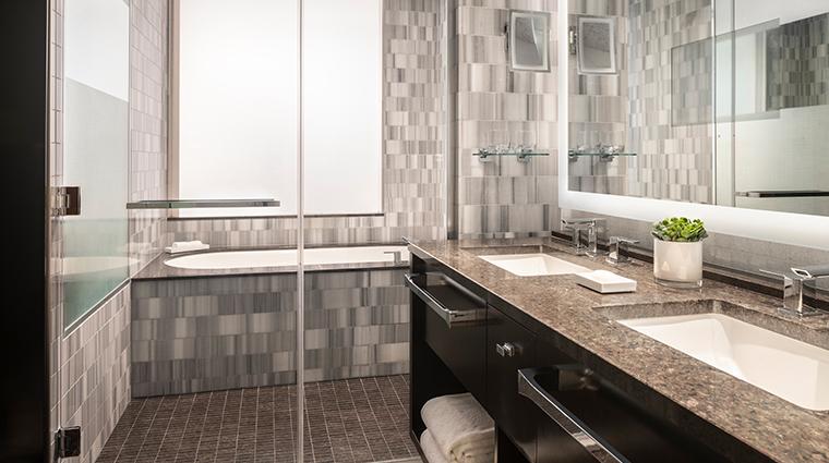 the ritz carlton los angeles junior suite bathroom