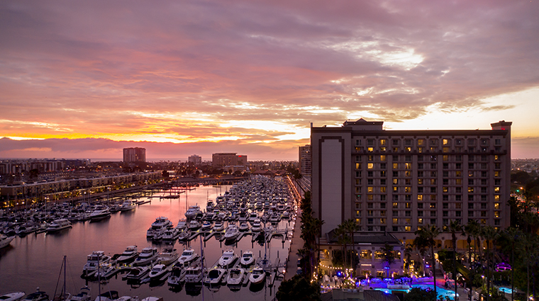 the ritz carlton marina del rey exterior sunset