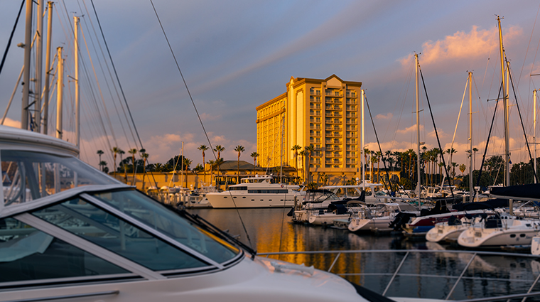the ritz carlton marina del rey marina sunset