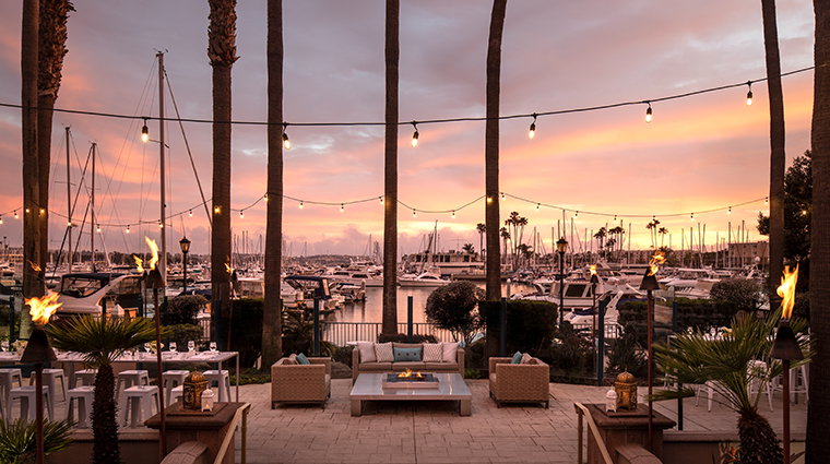 the ritz carlton marina del rey upper pool terrace