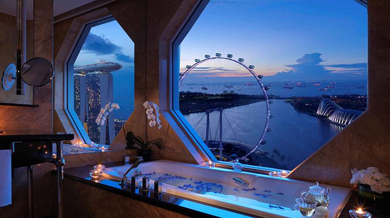 Property TheRitzCarltonMilleniaSingapore Hotel GuestroomSuite PremierSuite BathroomView CreditTheRitzCarltonHotelCompanyLLC