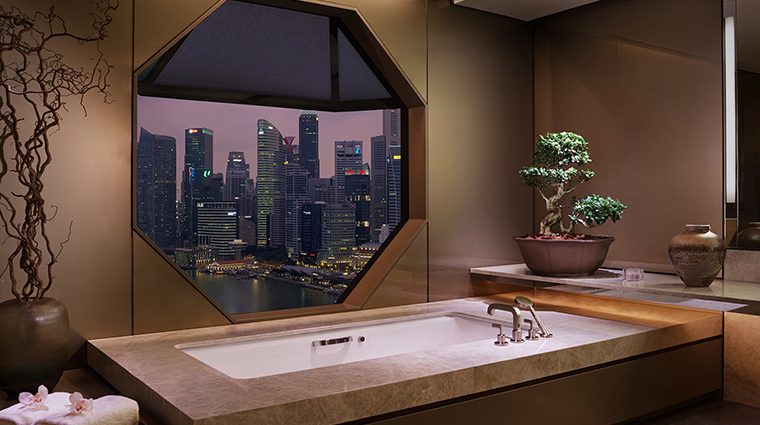 the ritz carlton millenia singapore master bathroom