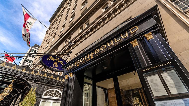 the ritz carlton montreal Maison Boulud exterior