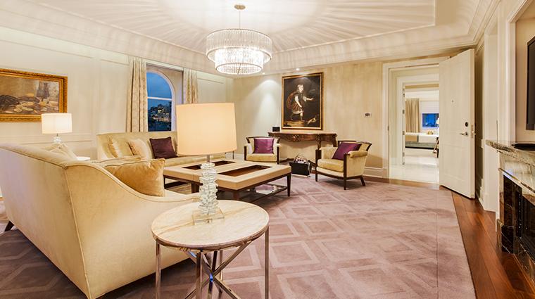 the ritz carlton montreal royal suite living