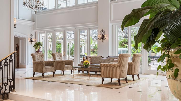 the ritz carlton new orleans lobby detail
